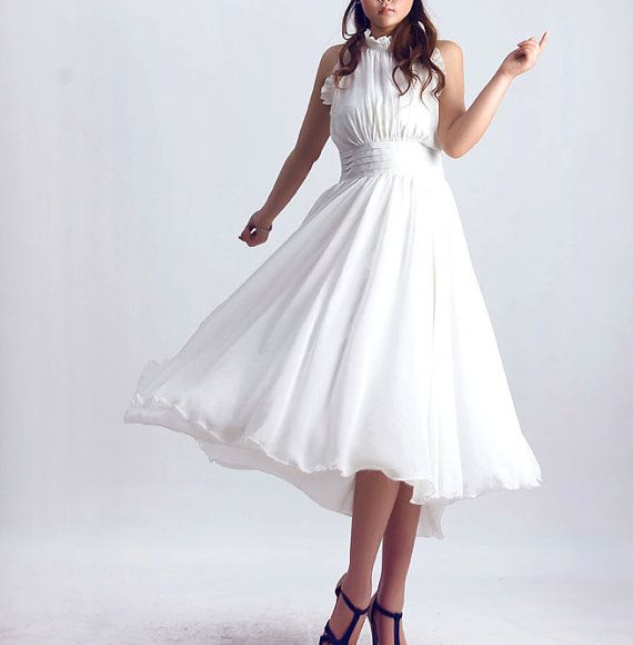 White party dress lace 0076 by xiaolizi on Etsy, $89.99