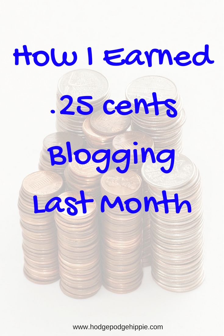 How I made .25 cents blogging last month! Seeing blogs that are earning thousands each month can be disheartening, but don't let it discourage you! Keep on!