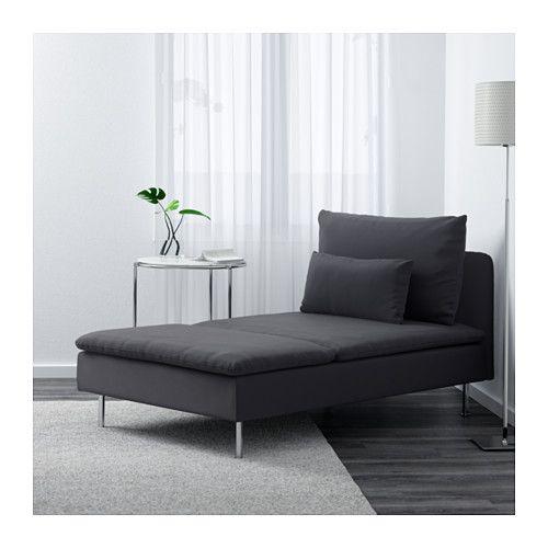 SÖDERHAMN Récamiere - Samsta dunkelgrau - IKEA