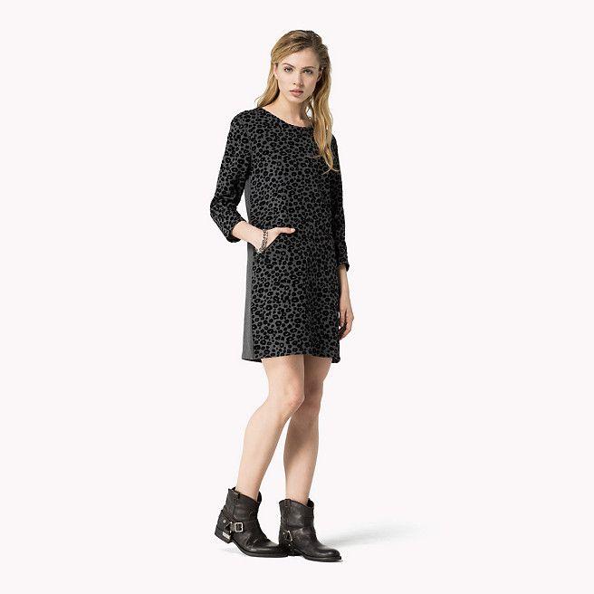 Hilfiger Denim Cotton Printed Dress - dark grey htr (Grey) - Hilfiger Denim Dresses - main image
