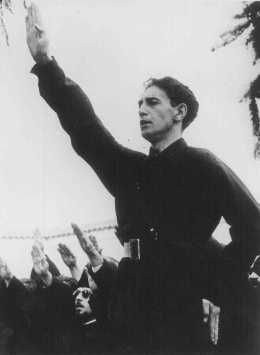 Horia Sima, leader of the Iron Guard and deputy prime minister of the Romanian government in 1940. Bucharest, Romania, 1940. — Dokumentationsarchiv des Oesterreichischen Widerstandes