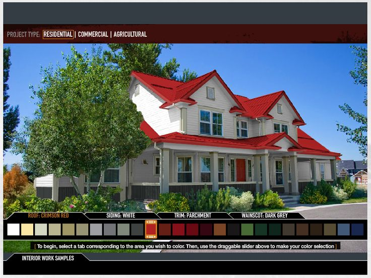17 best images about metal roofing on pinterest metals for Siding and roof color visualizer