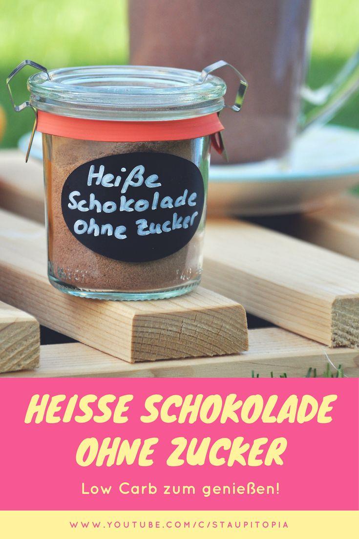 Mischung für heiße Schokolade ohne Zucker selber machen! So einfach könnt ihr eine Mischung für heiße Low Carb Schokolade selber machen!