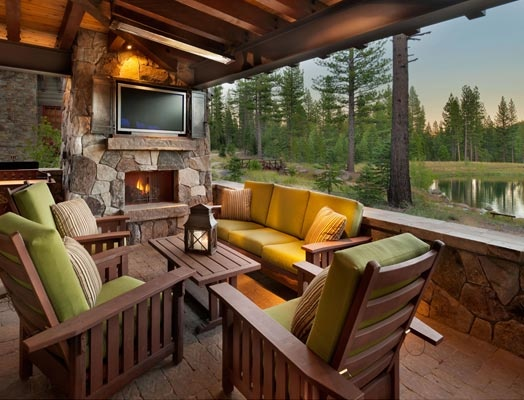 deckCabin Rustic Patios, Lakes Cabin, Marty Camps, Reed Bros, Outdoor Spaces, Tahoe Mountain, Cabin Lot, Lakes Marty, Cabin Lakes