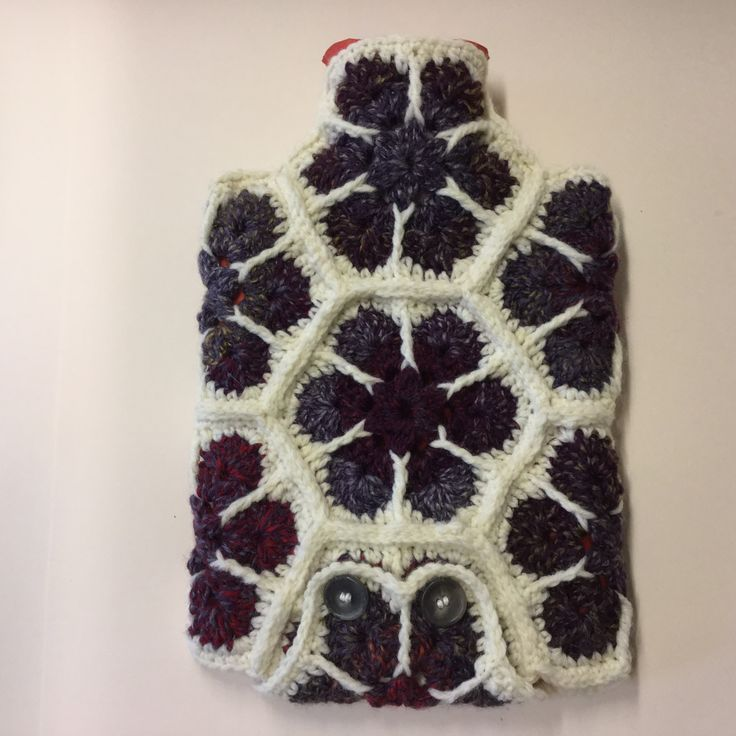 African flower hot water bottle sleeve SOLD