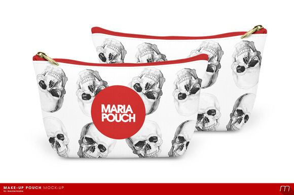 Make-up Pouch Mock-up by mesmeriseme on Creative Market