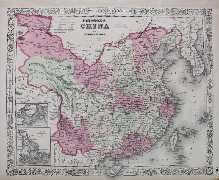 Johnson's China - Antique Maps and Charts – Original, Vintage, Rare Historical Antique Maps, Charts, Prints, Reproductions of Maps and Charts of Antiquity
