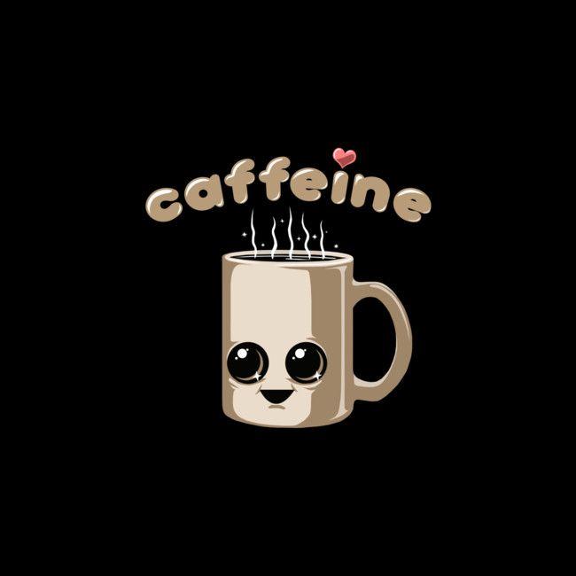 CAFFEINE. The only way to start the day #caffeine #cute #shirt #design #art #illustration #coffee