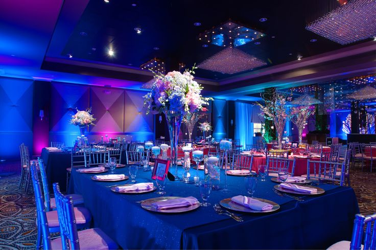 blue and pink event lighting for club navy blue pink