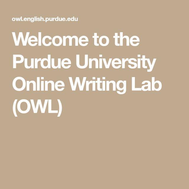 Best 25+ Online writing lab ideas on Pinterest Writing lab - owl purdue resume