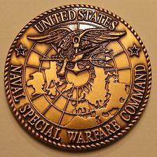 Naval Special Warfare Command SEALs Only Easy Day Was Yesterday Challenge Coin