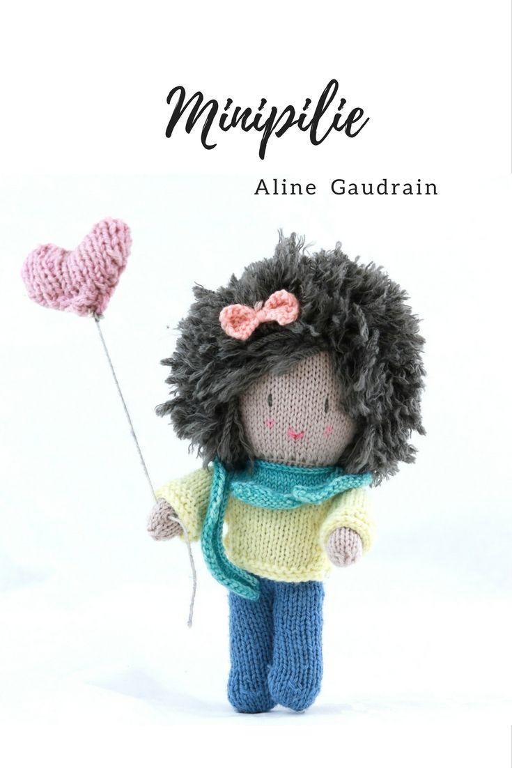 Un modèle de poupée adorable et  abordable pour les débutants!Tricot débutant Modèle tricot facile Tricoter jouet Tricoter poupée apprendre à tricoter tricot facile