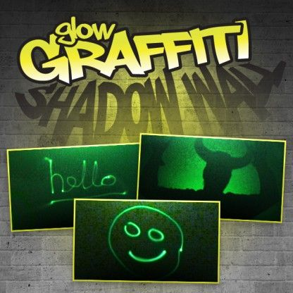 Check out this Glow Graffiti Shadow Wall