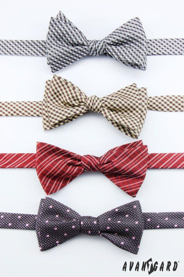 Vázací motýlky AVANTGARD ve čtyřech barvách /// Bow ties AVANTGARD in four colors