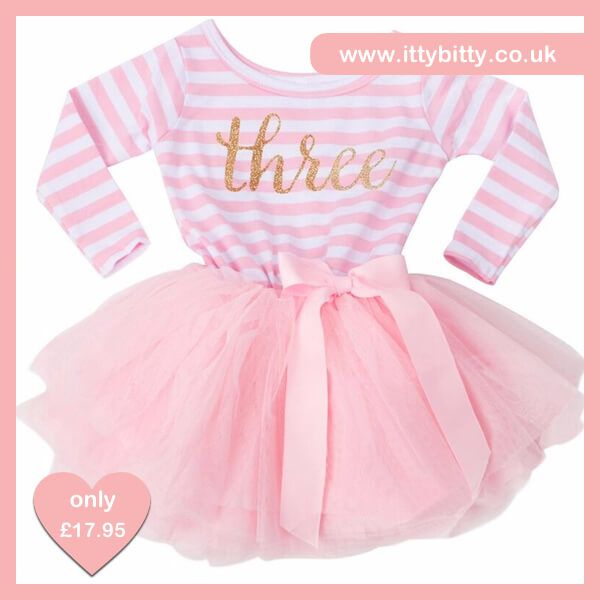 IN STOCK | Itty Bitty Pink & White Third Birthday Tutu Dress  Shop here 👉🏻https://www.ittybitty.co.uk/product/itty-bitty-pink-white-third-birthday-tutu-dress/?utm_content=buffer7f6ed&utm_medium=social&utm_source=pinterest.com&utm_campaign=buffer  🅿️ PayPal or 💳 Credit/Debit card 🔐 Secure