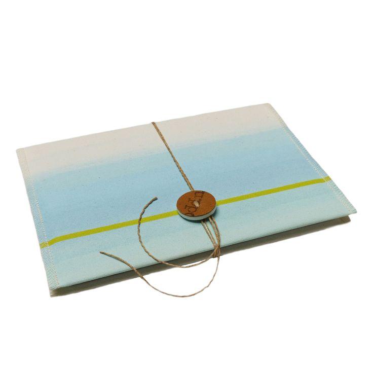 Notebook cover. Design Gerda Ploeg. Handpainted canvas.
