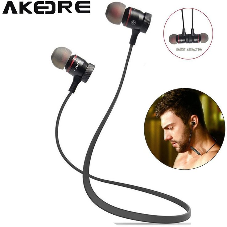 Bluetooth Headphones , AKEDRE® Magnet Attraction V4.0 Bluetooth Earbuds In-Ear Noise Reduction Headphones with Microphone for Running & Sports Earphones for iPhone Samsung Android Smart Phones (Black). 1. FASHION MAGNET ATTRACTION DESIGN: Portable, user-friendly and popular MAGNET ATTRACTION design, let the headphones hang like a necklace, very easy to store into your clothing or bag, and not easy to fall off. 2. COMFORTABLE TO WEAR & SWEATPROOF: Ergonomic in-ear headphones design to...