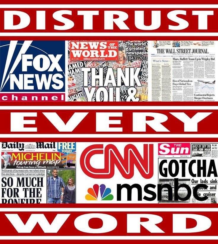 By LAW, the news does not have to tell you the truth. Look up the Fox news/Monsanto incident.