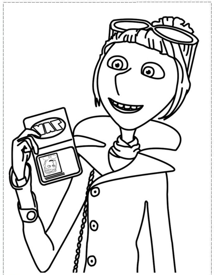 Dibujo de gru mi villano favorito para imprimir y for Gru coloring pages