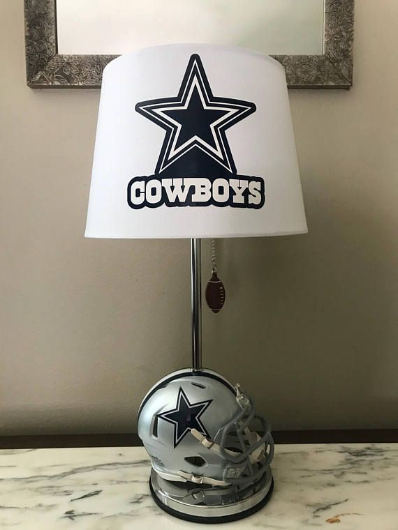 Total Height Of Lamp 19 Inches And The Lampshade Is 10 X 8 With A 7 Inch Slope Dallas Cowboys Decor Dallas Cowboys Room Dallas Cowboys