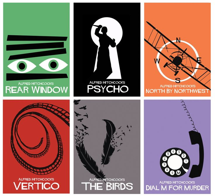 Minimalist Alfred Hitchcock movie posters. My favorite movie ever...Rear Window!