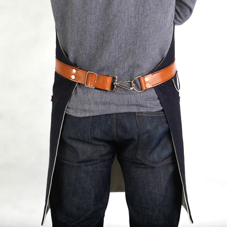 """Mens Apron - Indigo Selvage Denim 