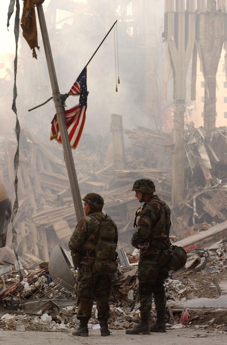 "The National Guard supplemented the NYPD and FDNY, with 2,250 guard members by the next morning. Eventually 1000's of New York Army & Air National Guardsmen participated in the rescue/recovery efforts. They conducted site security at the WTC, and other locations. They provided the NYPD with support for traffic control, and participated directly in recovery operations providing manpower in the form of ""bucket brigades"" sorting through the debris by hand."