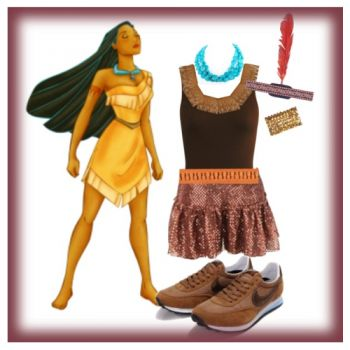 Running Costumes - because who doesn't want to look like Pocahontas while they run....