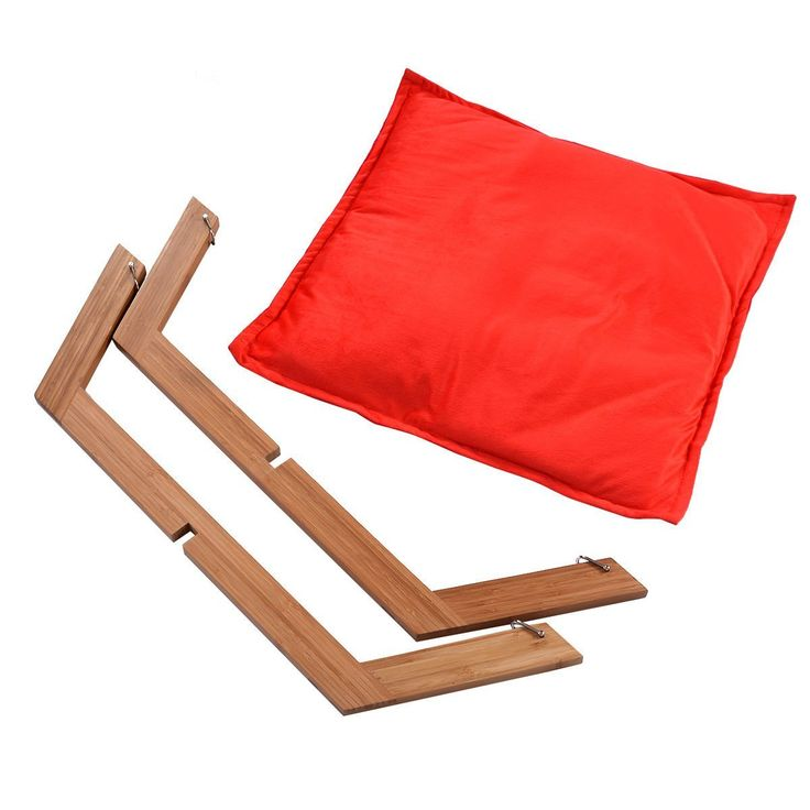 Amazon.com : Giantex Pet Hammock Bed Dog Nap Mat Cat Sleeping Pad Cushion Bamboo Lounge Small (Red) : Pet Supplies
