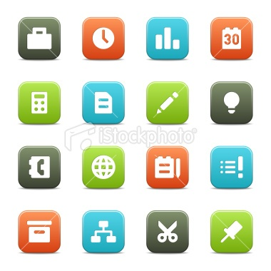 Office Icons Royalty Free Stock Vector Art Illustration