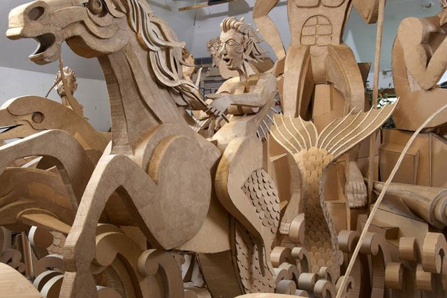 Fountain of Cardboard by James Grashow: Paper Craft, Arts Crafts, Paper Art, James D'Arcy, Cardboard Art, Design, Arts & Crafts