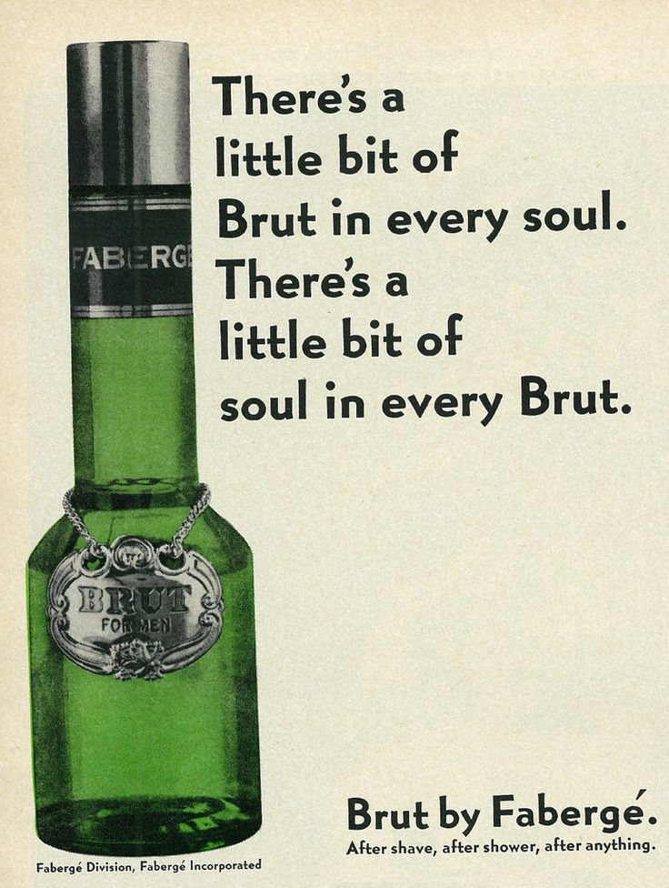 1970 Men S Fragrance Ad Brut For Men By Fabergé Perfume Adverts Fragrance Ad After Shave
