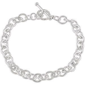 925 Sterling Silver Cable Bracelet W\Toggle Clasp GoldenMine. $106.00. Manufactured using up-to-date manufacturing techniques ensuring the highest quality and value. This jewelry is symbolic in nature and can be the perfect gift for any and all occasions. Promptly Packaged with Free Shipping and Free Gift Box... Perfect for Gift Giving. This item features a high polish finish for Excellent sparkle and pop. Completely redesigned and revamped for the year 2012. Save 71%!
