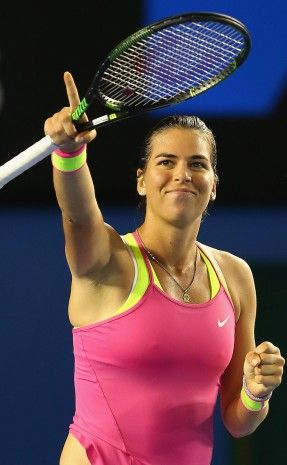 Ajla Tomljanovic in action at Australian Open 2015; Getty Images