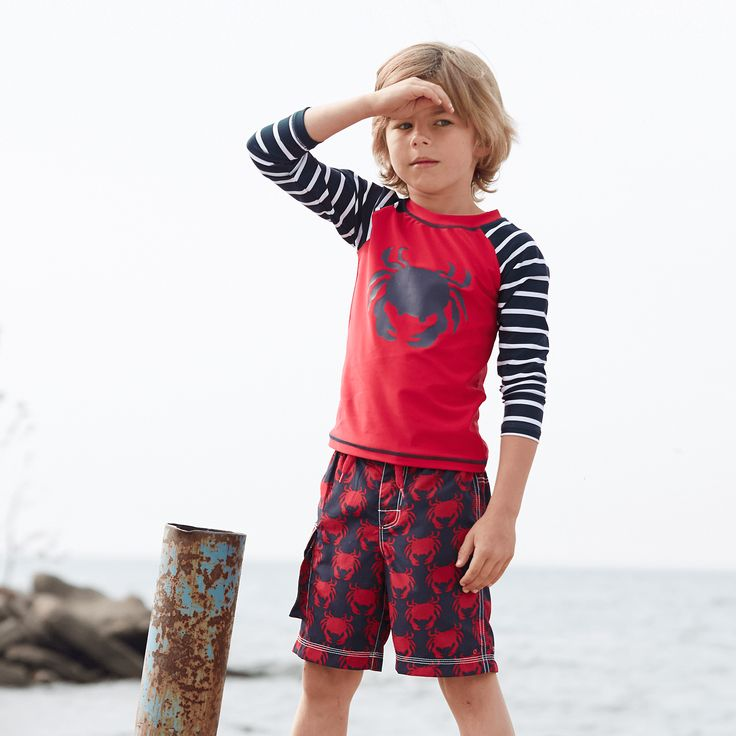 Fun fact: did you know that our boys' swimwear includes SPF 50 sun protection? Get in gear for the beach with an awesome collection of Hatley swimwear. Don't forget to enter our giveaway this Friday! #kidsswimwear #kids #kidsclothing #swimwear #hatley