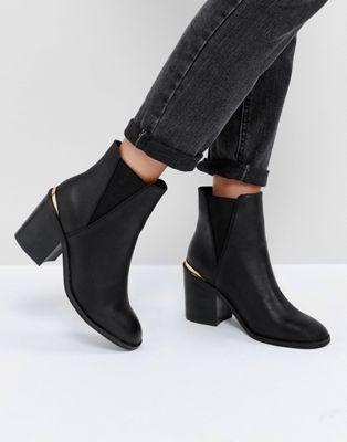 ASOS ECHO Heeled Chelsea Boots