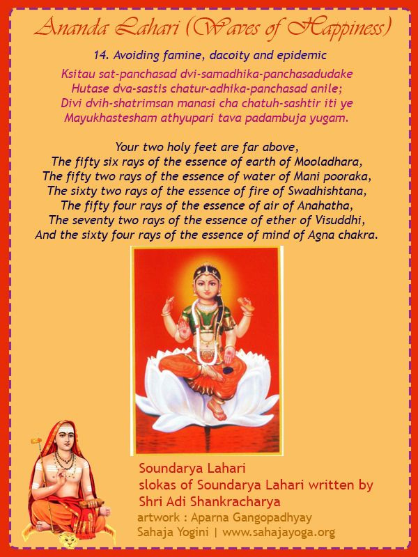 Saundarya Lahari Stanza 14 - By Adi Shankaracharya | Sahaja Yoga