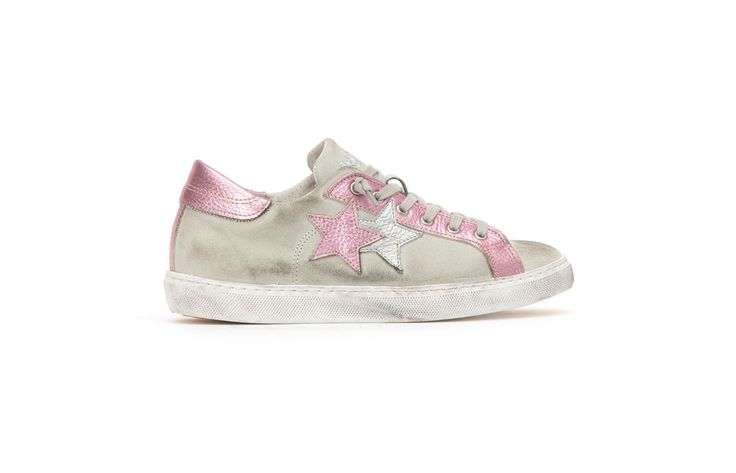 Sneaker 2 Two Star Donna 2sd1453 low ghiaccio rosa spring summer 2017