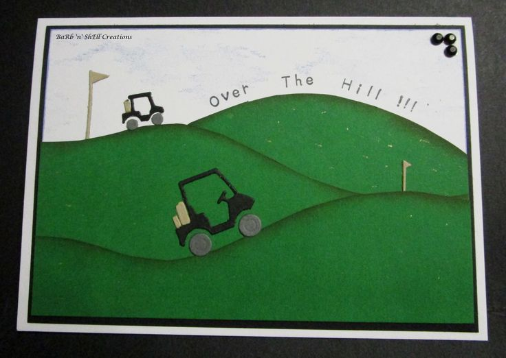 BaRb'n'ShEll Creations - Memory Box Dies -Golf Card - made by Shell