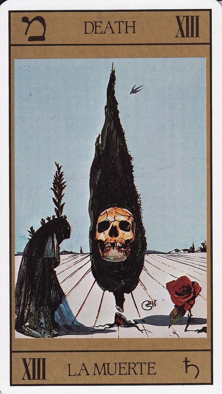 Universal Tarot: XIII Death ~ Juan Llarch & Salvador Dali
