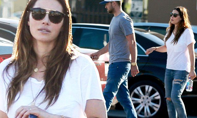 Justin Timberlake and Jessica Biel seen for first time since baby