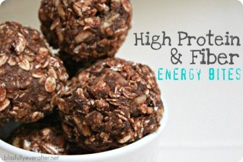 High Fiber and Protein Energy Bites