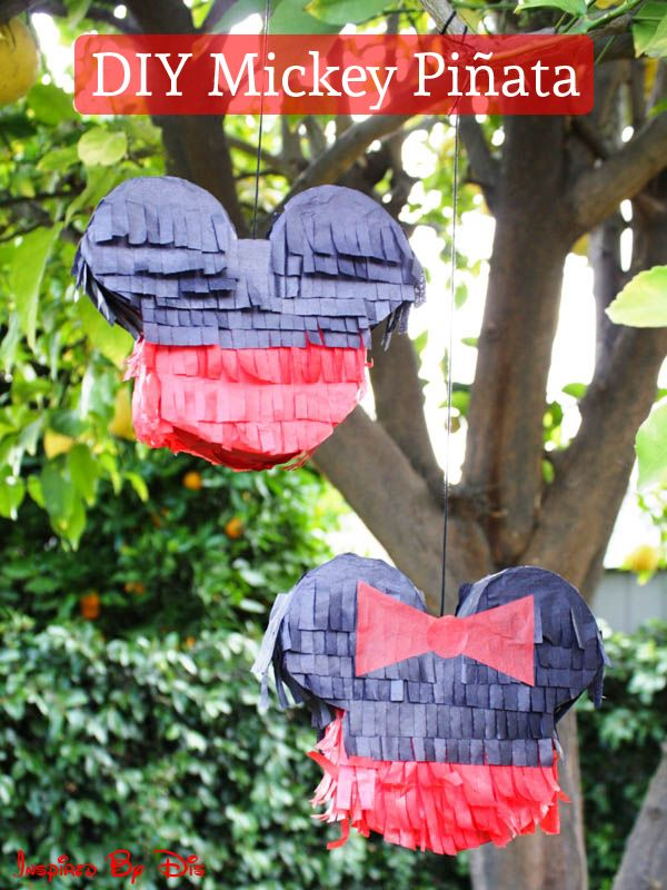 DIY Mickey Mouse Pinata - This Fairy Tale Life