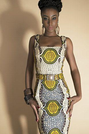 Lookbook Spring Summer 2015 Hot Mama Africa - Lena Hoschek, African Print Dress with belt