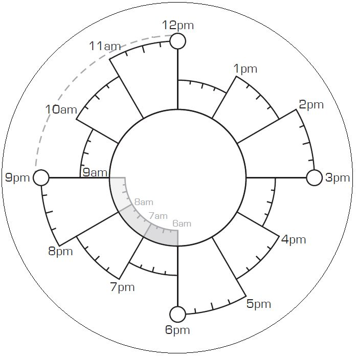 blank Chronodex circle - print off on labels and stick in your regular planner