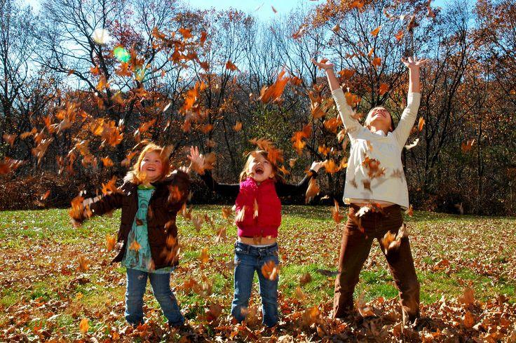 Fall Leaves Kid Photo Inspiration | POPSUGAR Moms