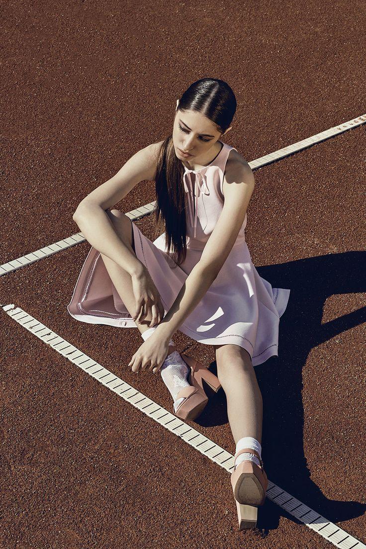 Deborah Dress #fitandflaredress #palepink