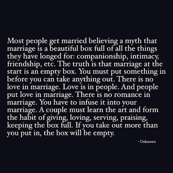 "THE MARRIAGE/RELATIONSHIP BOX. ""If you take out more than you put in the box will be empty."" Listen relationships certainly don't operate best within a ""tit for tat"" framework but this concept of a marriage box is a really powerful one. It's similar to the emotional bank account I spoke about recently in which Dr. John Gottman discusses the act of withdrawing and depositing into each other's (and our own) emotional bank accounts. As a society we tend to believe in the box/account being FULL…"