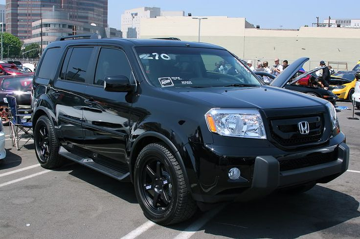 Blacked-out honda pilot..will be doing this on parts of my ...
