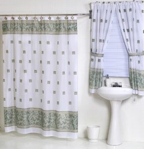 Bathroom Shower And Window Curtain Sets